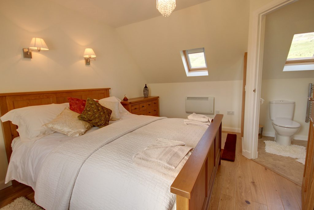 The Croft House, Glendale, Isle of Skye, bedroom with en-suite